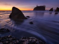 DAYS END  - Olympic National Park, Washington, USA